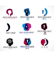 psychology brain and mental health conceptual vector image