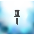 push pin icon on blurred background