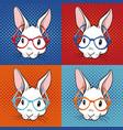 rabbit pop art vector image
