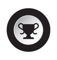 round black and white button - sports cup icon vector image vector image