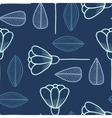Seamless pattern with hand drawn flowers and leafs vector image