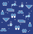 seamless winter pattern knitting hygge concept vector image vector image