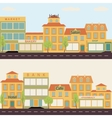 Set of buildings in the style small business flat vector image vector image