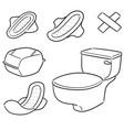 set of sanitary napkin vector image vector image