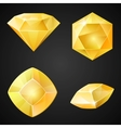 Set of yellow gemstones vector image