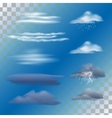 set transparent clouds vector image vector image