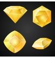 set yellow gemstones vector image vector image