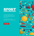 sports equipment and accessories landing vector image