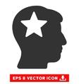 Star Head Eps Icon vector image vector image