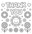 Thank you coloring page black and white