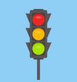 traffic light isolated icon green yellow red vector image