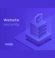 website security data protection server access vector image vector image