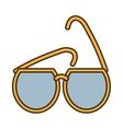 yellow sunglasses fashionable beach sunny vector image