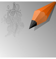 Abstract background with a pencil eps10 vector image