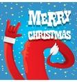 Santa Claus hand rock n roll vector image