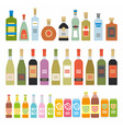 Flat Icons Alcoholic Beverages vector image