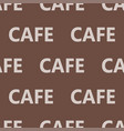 coffee words background cafe text seamless pattern vector image