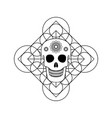 ornamental skull with geometric symbol vector image
