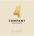 4 company logo design with white background vector image vector image