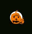 a big and a small halloween pumpkin mascot vector image vector image
