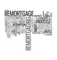 a quick guide to remortgage text word cloud vector image vector image