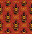 adventure seamless pattern with camping lantern vector image vector image