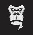 Ape face with a cup coffee logo