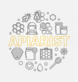 apiarist round in thin line vector image vector image