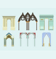 arch architecture construction frame column vector image vector image