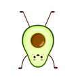 avocado character design yoga vector image vector image