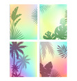 background with summer leaves vector image vector image