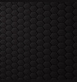 black background with hexagons honeycomb pattern vector image vector image