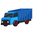 blue truck on white background vector image vector image