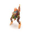 cartoon engineer dwarf mechanic character on vector image