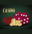 casino design icon vector image