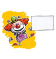 Clown Holding Business Card vector image vector image