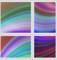 Colorful curved digital art page background set vector image vector image
