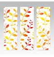 Colorful Vertical Set Of Floral Banners Modern vector image vector image