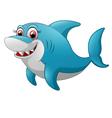 Comical shark character vector image