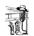 cowboy gear vector image vector image