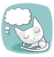 Cute Cat Thoughts vector image vector image