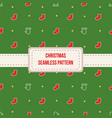 different christmas seamless patterns vector image
