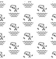 dolphin splashes pattern seamless vector image vector image
