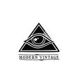 eye symbol theme vector image vector image