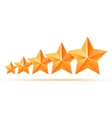 Five 3d gold stars premium The best reward vector image