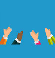 flat concept of success applause hands clapping vector image