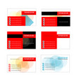 fresh business card collection set template vector image vector image
