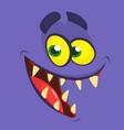 funny cartoon monster face halloween vector image vector image