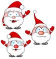 funny santa claus cartoon vector image vector image