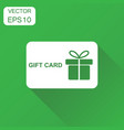gift card icon business concept discount vector image